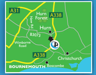 <Site enterance map of the Bournemouth site>